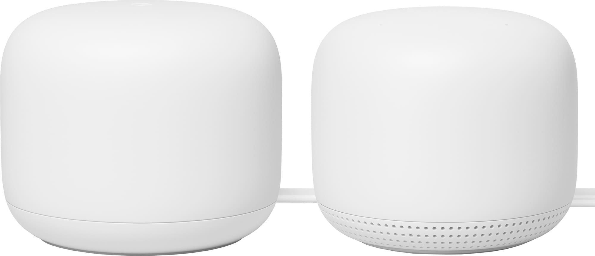 Google Nest WiFi 1+1 router og aksesspunkt (2 pakning