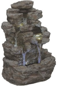 Vannklippe fontene inkl. pumpe og LED