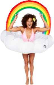 Giant Rainbow Pool Float