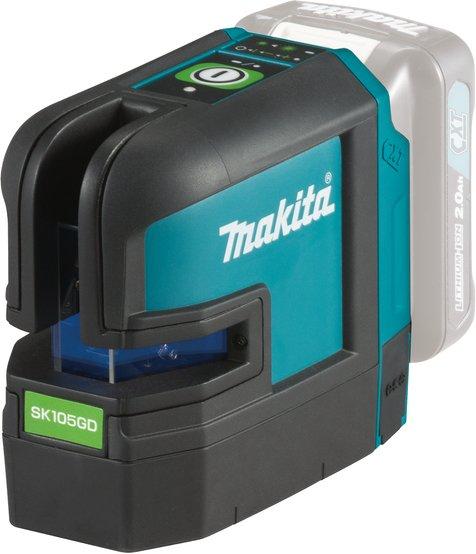 Makita SK105GDZ Krysslaser grønn (uten batteri)