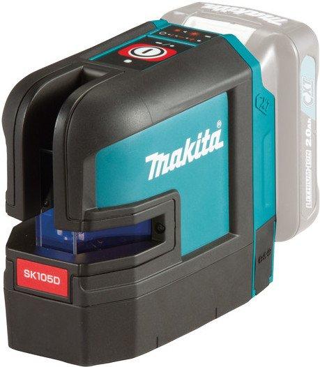 Makita SK105DZ krysslaser rød (uten batteri)