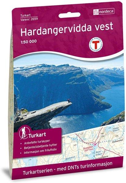 Nordeca Hardangervidda Vest 1:50 000