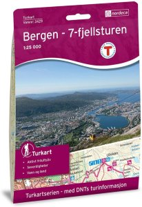 Bergen  7-Fjellsturen 1:25 000