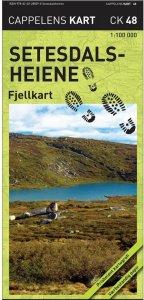 Setesdalsheiene Fjellkart