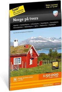 Norge på tvers 1:50 000