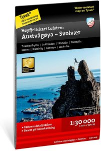 Høyfjellskart Austvågøya - Svolvær 1:30 000