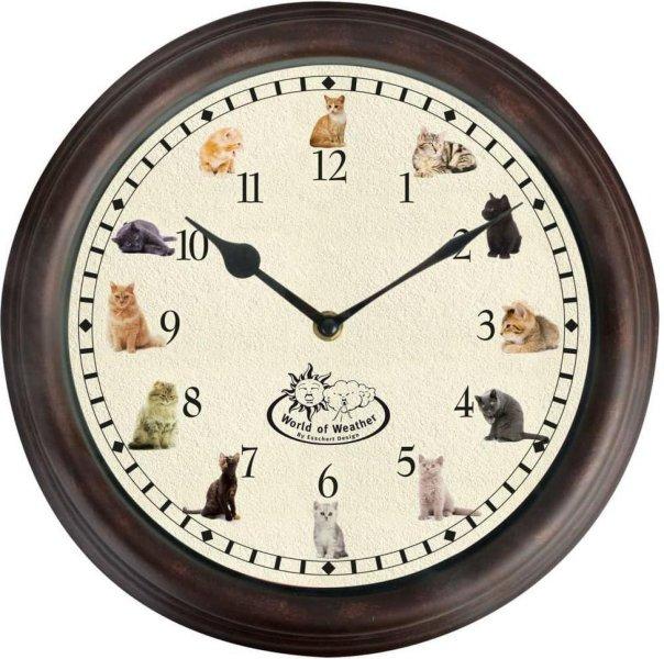 Esschert Design Klokke med kattelyder