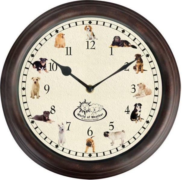 Esschert Design Klokke med hundelyder