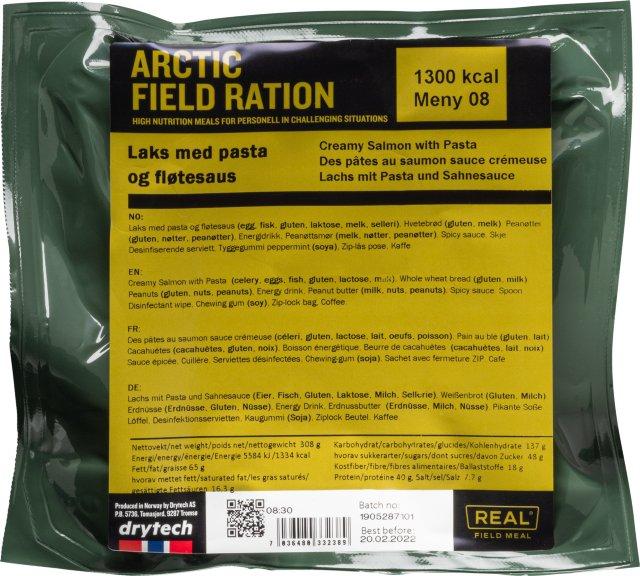 Real Turmat Arctic Field Ration laks med pasta og fløtesaus