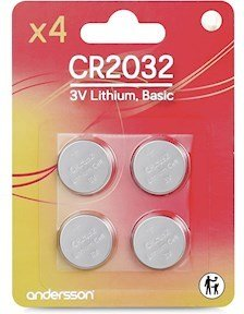 Andersson CR2032 3V Lithium 4 pk