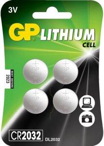 GP Litium Cell CR2032 3V 4 pk