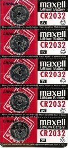 Maxell CR2032 Lithium 3V 5 pk
