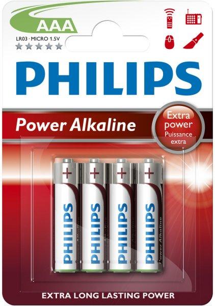 Philips Powerlife Alkaline AAA 4pk