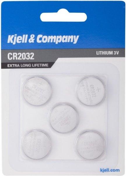 Kjell & Company CR2032 5 pk