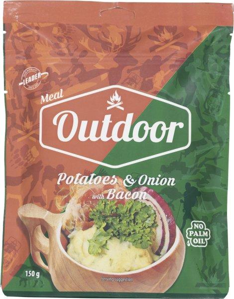 Outdoor Meal Potato Bacon Onion