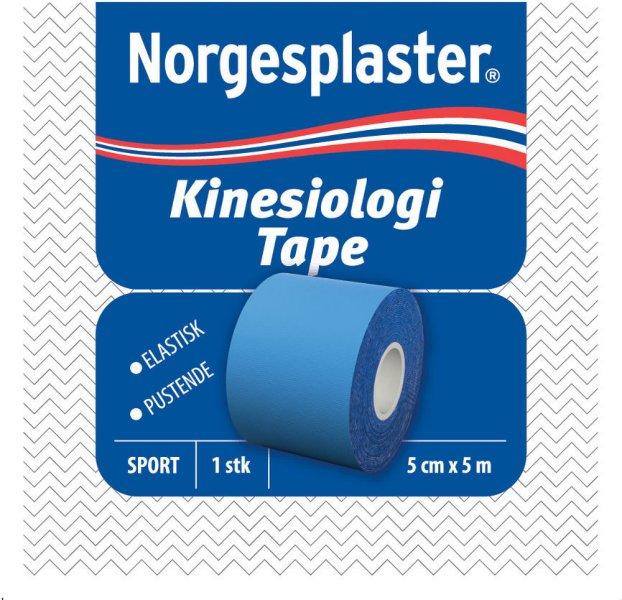 Norgesplaster Kinesiologi tape 5cmx5m blå