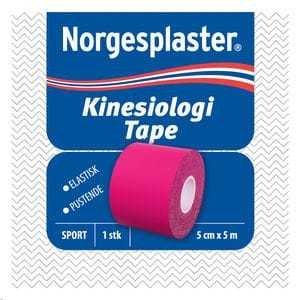 Norgesplaster Kinesiologi tape 5cmx5m rosa