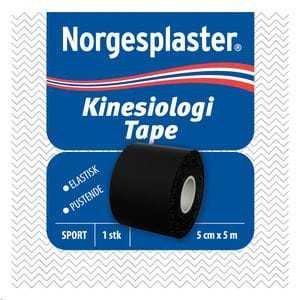 Norgesplaster Kinesiologi tape 5cmx5m svart