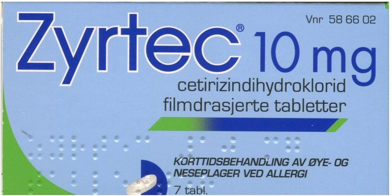 Zyrtec 10 mg 30 stk