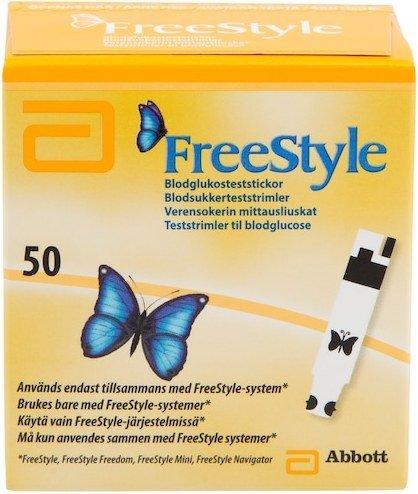 Abbott FreeStyle teststrimler 50 stk