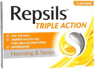 Triple Action Honning & Sitron 24 stk