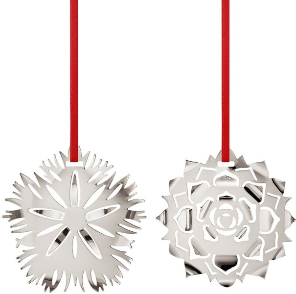 Georg Jensen 2020 Julekule Dianthus og Ice Rosette