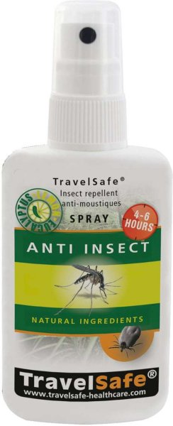TravelSafe Anti Insect Natural Ingredients Spray
