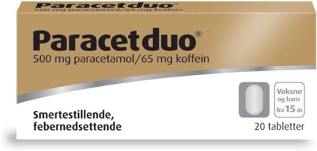 Weifa Paracetduo 500/65mg tabletter 20 stk