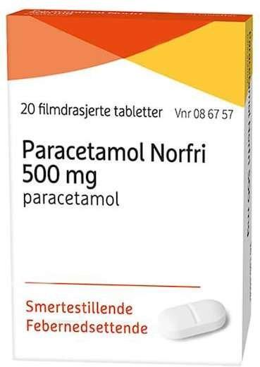 Evolan Pharma Paracetamol Norfri 500mg tabletter 20 stk