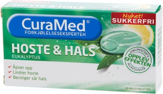 CuraMed Hoste & Hals Eukalyptus 20 stk