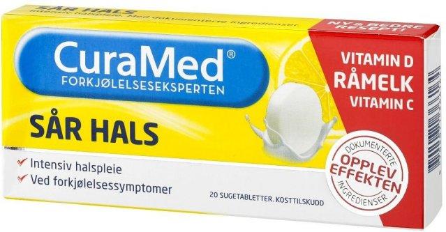 CuraMed Sår Hals 20 stk