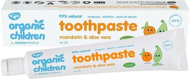 Green People Toothpaste Mandarin & Aloe Vera with Fluoride