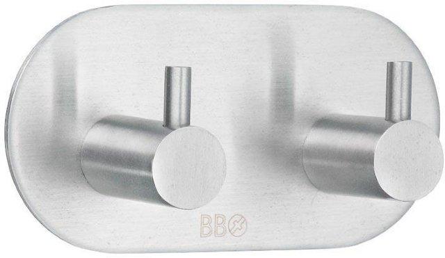 Beslagsboden Selvklebende dobbel krok B1102