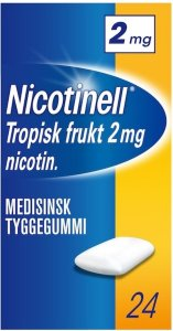 Nicotinell Tropisk frukt 2mg tyggegummi 24 stk