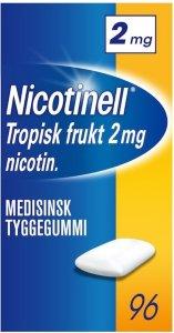 Nicotinell Tropisk frukt 2mg tyggegummi 96 stk