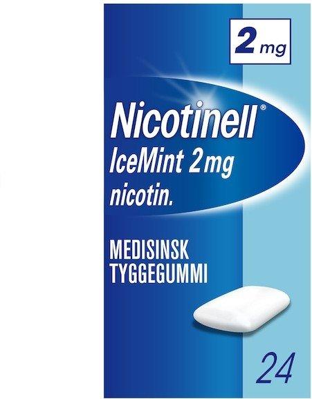 Nicotinell Icemint 2mg tyggegummi 24 stk