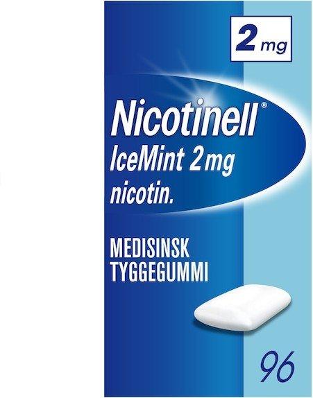 Nicotinell Icemint 2mg tyggegummi 96 stk