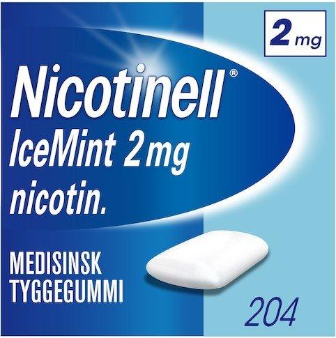 Nicotinell Icemint 2mg tyggegummi 204 stk