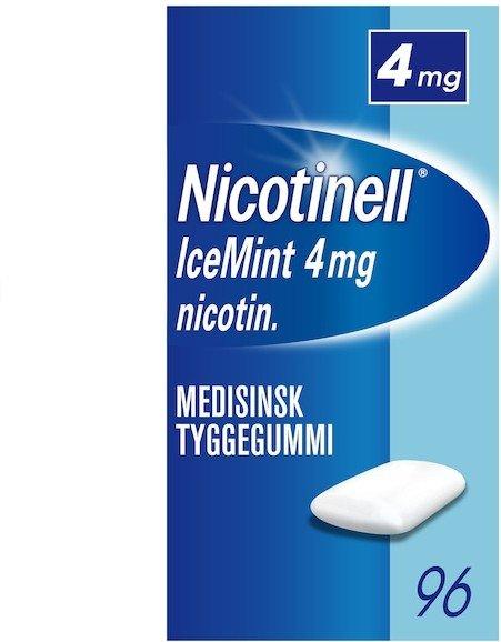 Nicotinell Icemint 4mg tyggegummi 96 stk
