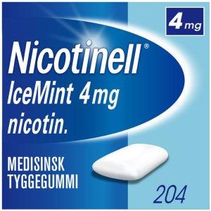 Icemint 4mg tyggegummi 204 stk