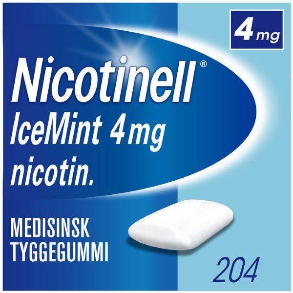 Nicotinell Icemint 4mg tyggegummi 204 stk