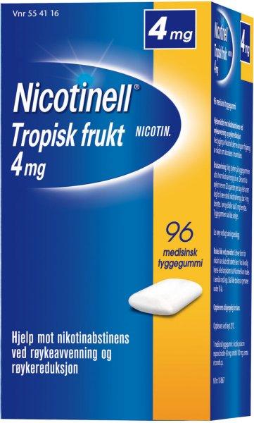 Nicotinell Tropisk frukt 4mg tyggegummi 96 stk