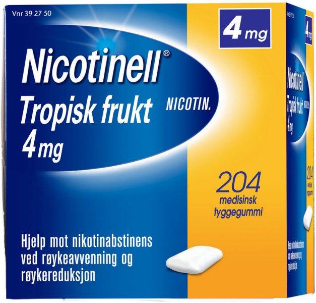 Nicotinell Tropisk frukt 4mg tyggegummi 204 stk