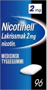 Nicotinell Lakris 2mg tyggegummi 96 stk