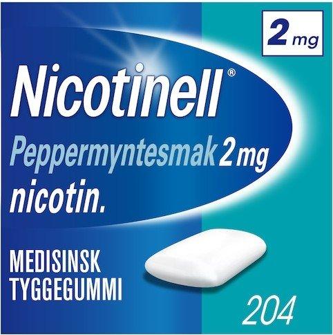 Nicotinell Peppermynte 2mg tyggegummi 204 stk
