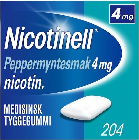 Nicotinell Peppermynte 4mg tyggegummi 204 stk