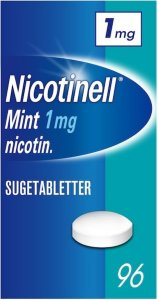Nicotinell Mint 1mg sugetabletter 96 stk