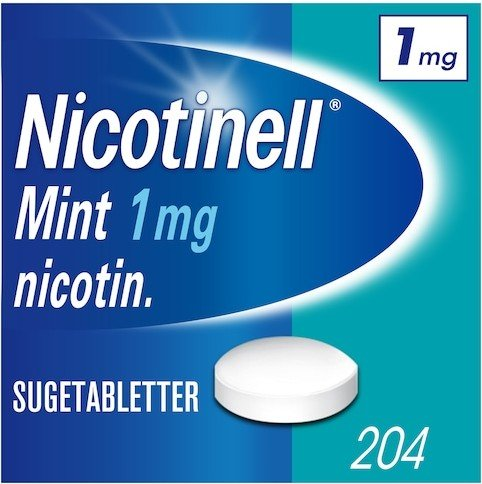 Nicotinell Mint 1mg sugetabletter 204 stk