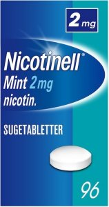 Nicotinell Mint 2mg sugetabletter 96 stk