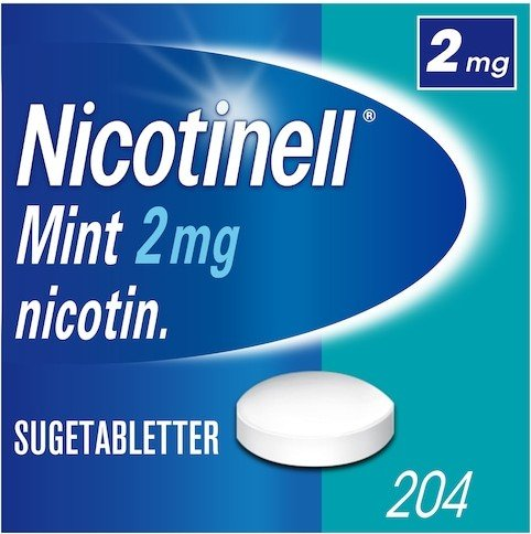 Nicotinell Mint 2mg sugetabletter 204 stk